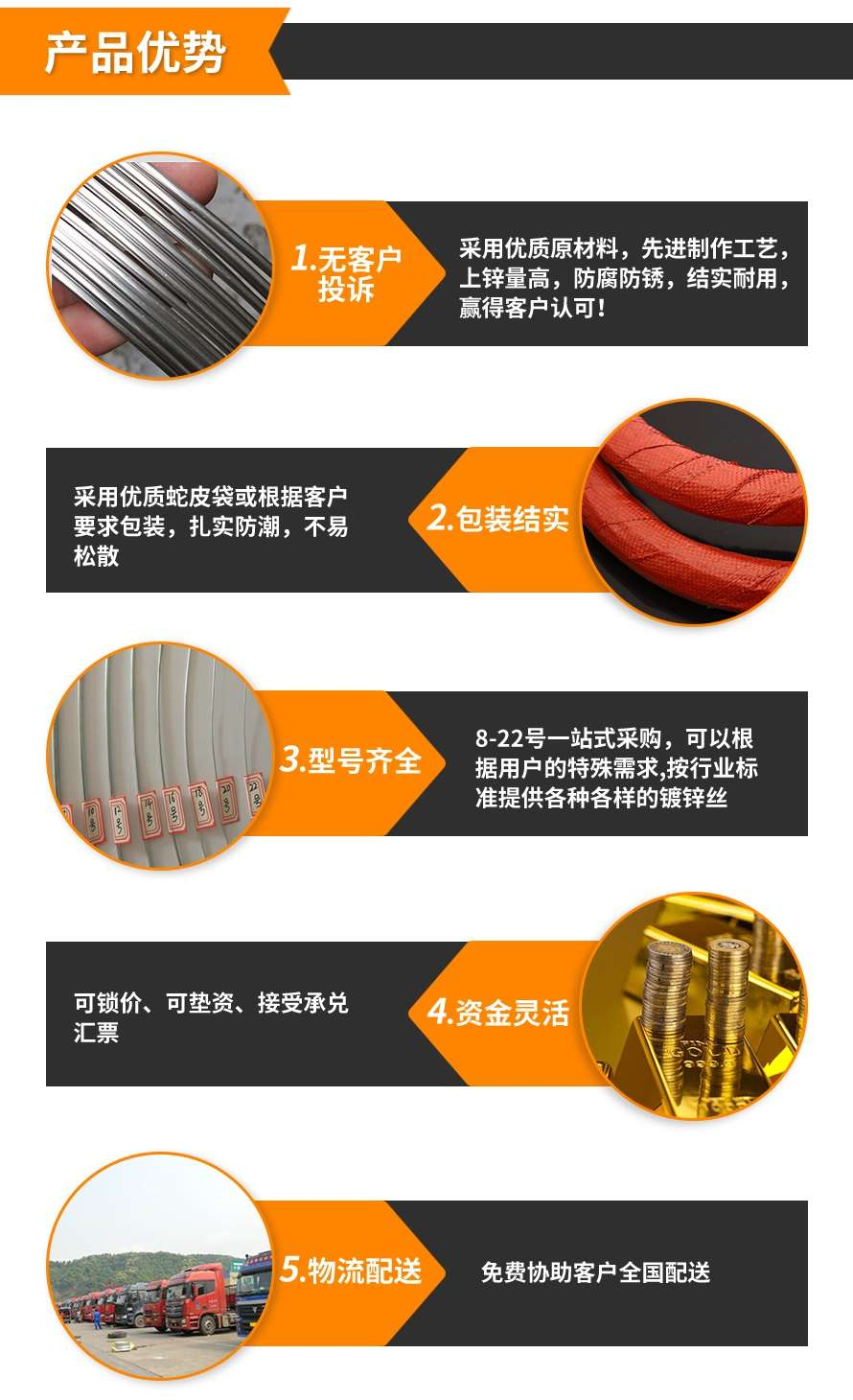 镀锌铁丝产品优势